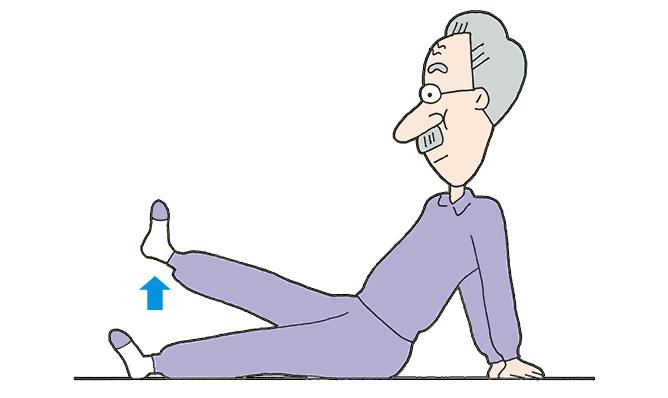 一般的な方法で膝に痛みを感じる人